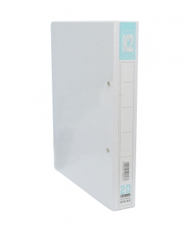 K2-225 PVC 2D Ring File (T) White