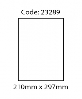 ABBA 23289 Laser Label [210mm x 297mm (A4)]