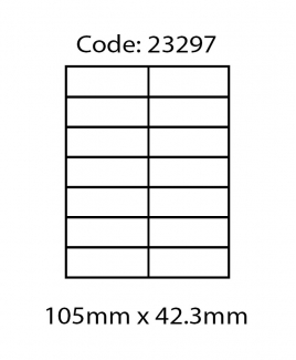 ABBA 23297 Laser Label [105mm x 42.3mm]