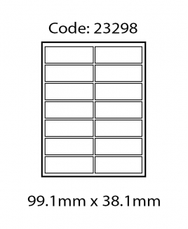 ABBA 23298 Laser Label [99.1mm x 38.1mm]