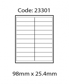 ABBA 23301 Laser Label [98mm x 25.4mm]