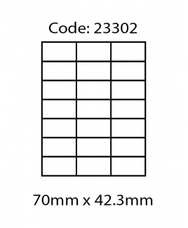 ABBA 23302 Laser Label [70mm x 42.3mm]