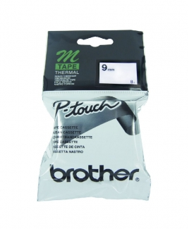 Brother Thermal M-K221 Tape 9mm Black on White 8m