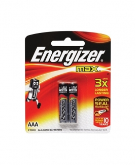 Energizer® MAX AAA Alkaline Batteries - 2pcs pack