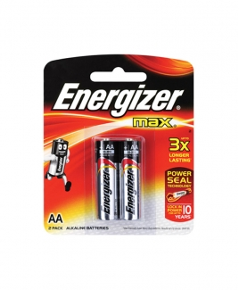 Energizer® MAX AA Alkaline Batteries - 2pcs pack