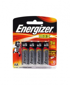 Energizer® MAX AA Alkaline Batteries - 4pcs pack
