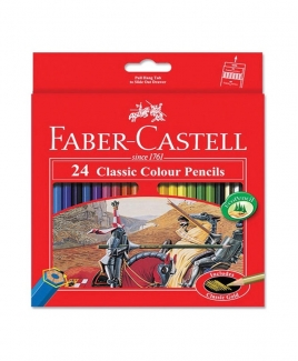 Faber Castell Classic Colouring Pencil - 24's (L)
