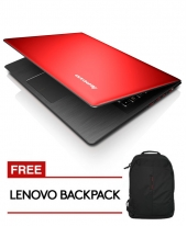 Lenovo IDEAPAD 500S-14ISK [Red] i5-6200U Processor / 4GB Ram / 256GB SSD / Win 10 Home