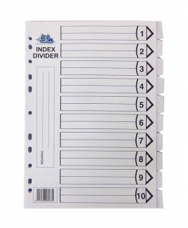 Index Divider 10's [White]