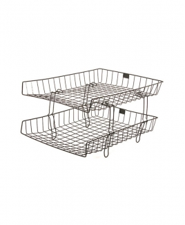 Wire Tray 2 Tier (Black)